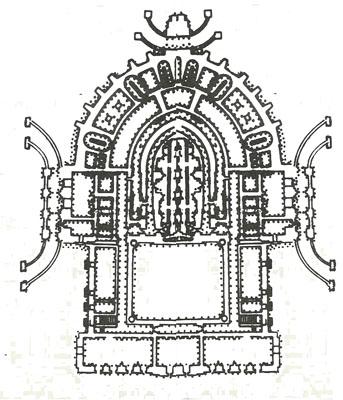План фундамента театра.